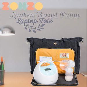 Zohzo Bags - BREAST PUMP BAG & LAPTOP CASE - ZOHZO LAUREN TOTE